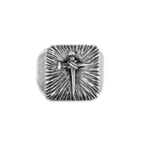 Anello Chiodo Croce Argento Made in Italy Clamor Glamour Linea Clamor