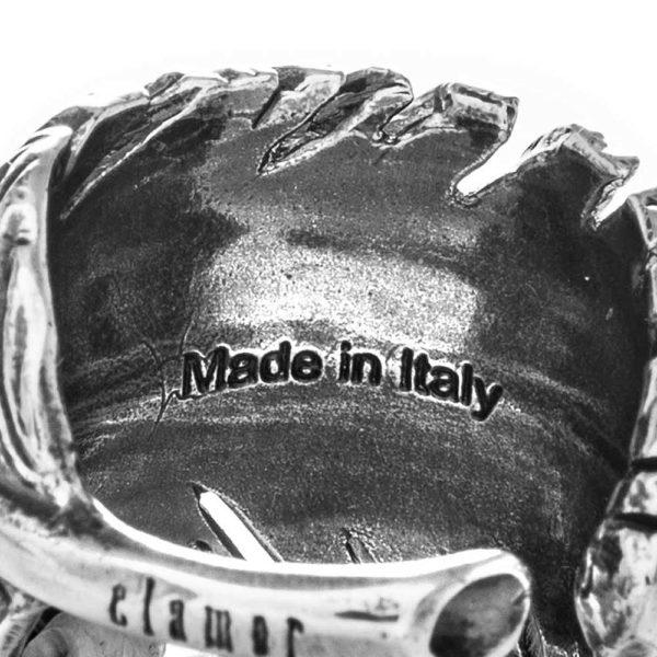 Anello Piuma Argento Made in Italy Clamor Glamour Linea Glamour