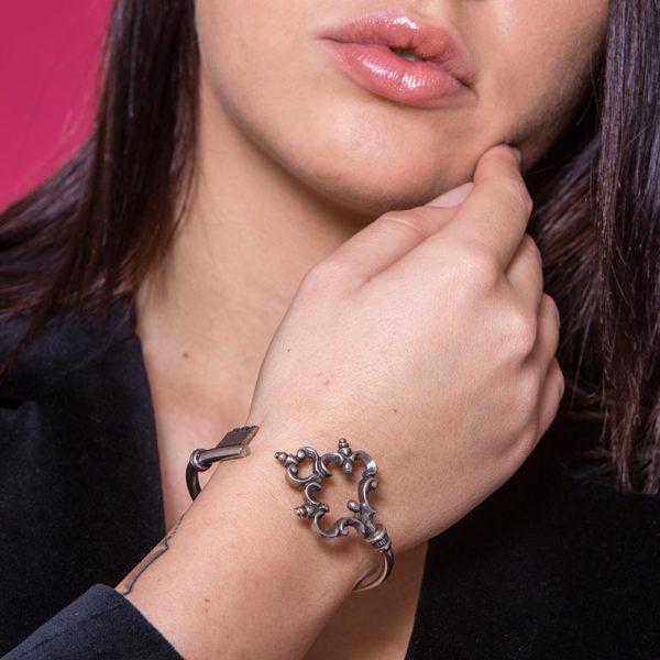 Bracciale Rialto Argento Made in Italy Clamor Glamour Linea Glamour indossato donna colori