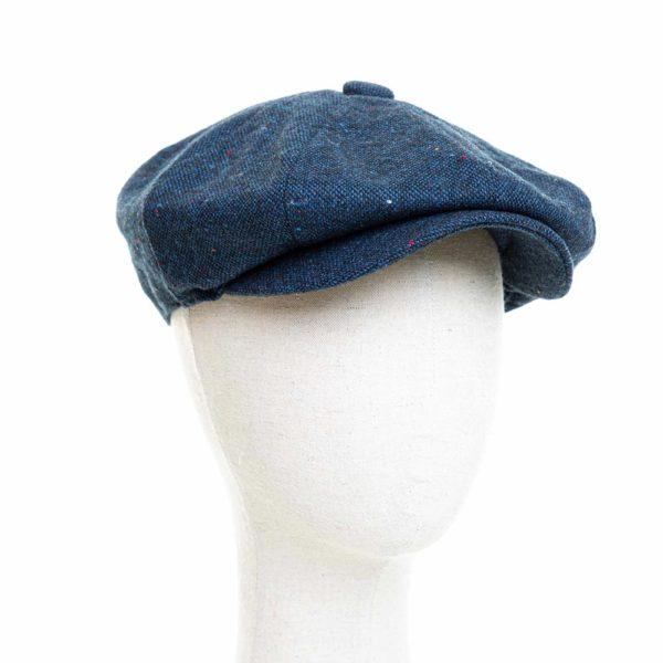 Cappello Baker Boy Hat Blu Melange Clamor Glamour Fronte