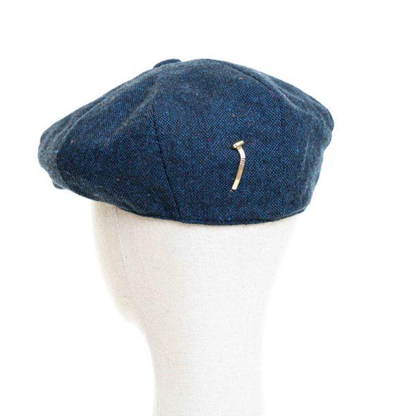 Cappello Baker Boy Hat Blu Melange Clamor Glamour Retro