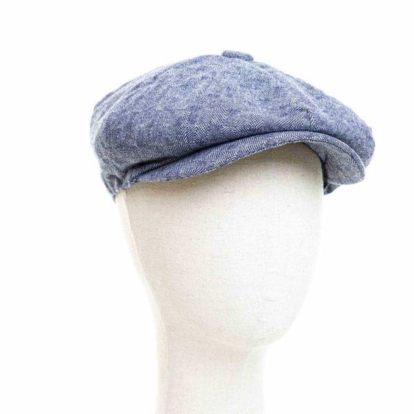 Cappello Baker Boy Hat Blu Quadretti Clamor Glamour Fronte