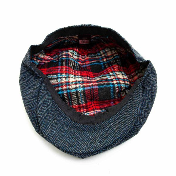 Cappello Baker Boy Hat Blu Spinato Clamor Glamour Interno