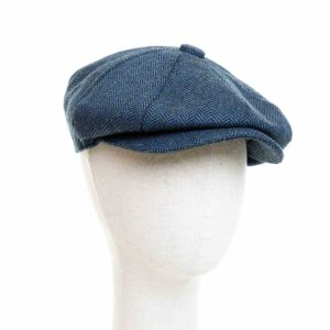 Cappello Baker Boy Hat Blu Spinato Clamor Glamour Fronte