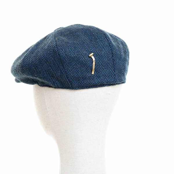 Cappello Baker Boy Hat Blu Spinato Clamor Glamour Retro