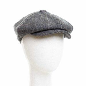 Cappello Baker Boy Hat Grigio Chiaro Spinato Fine Clamor Glamour Fronte