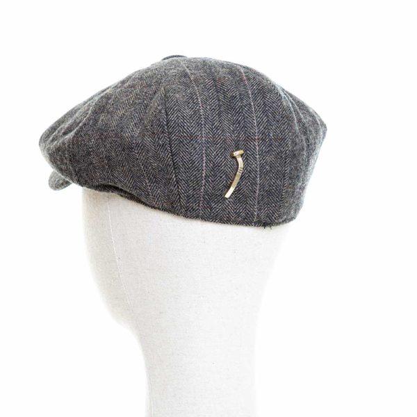 Cappello Baker Boy Hat Grigio Chiaro Spinato Fine Clamor Glamour Retro