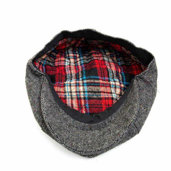 Cappello Baker Boy Hat Grigio Melange Clamor Glamour Dettaglio Interno