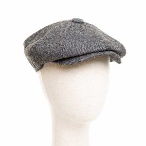 Cappello Baker Boy Hat Grigio Melange Clamor Glamour Fronte
