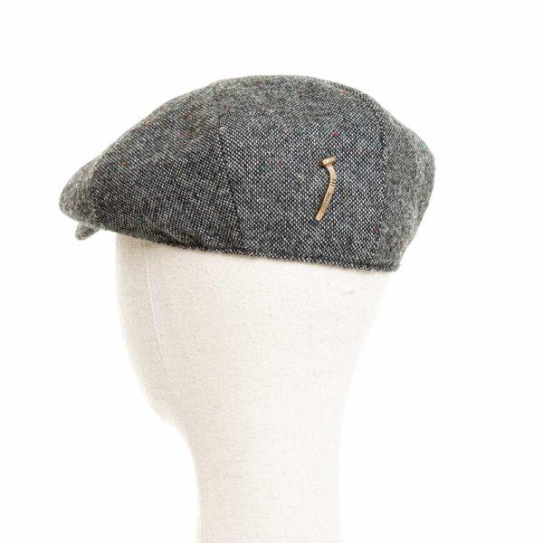 Cappello Baker Boy Hat Grigio Melange Clamor Glamour Retro