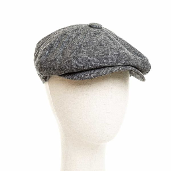 Cappello Baker Boy Hat Grigio Scuro Quadretti Clamor Glamour Fronte