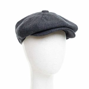 Cappello Baker Boy Hat Grigio Scuro Spinato Fine Clamor Glamour Fronte