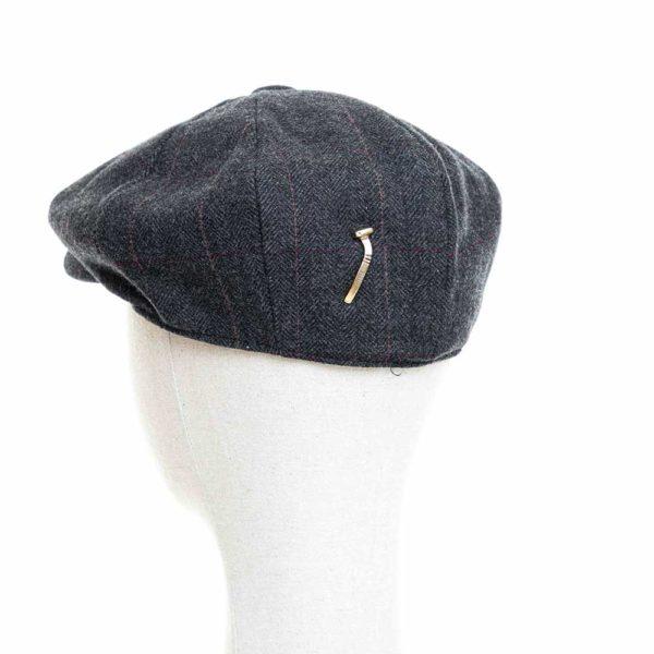 Cappello Baker Boy Hat Grigio Scuro Spinato Fine Clamor Glamour Retro