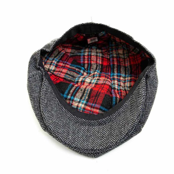 Cappello Baker Boy Hat Grigio Spinato Clamor Glamour Interno