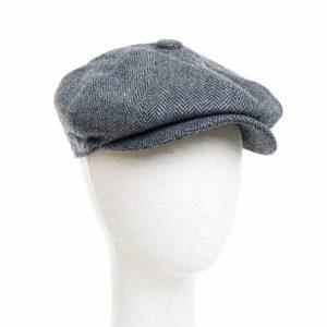 Cappello Baker Boy Hat Grigio Spinato Clamor Glamour Fronte