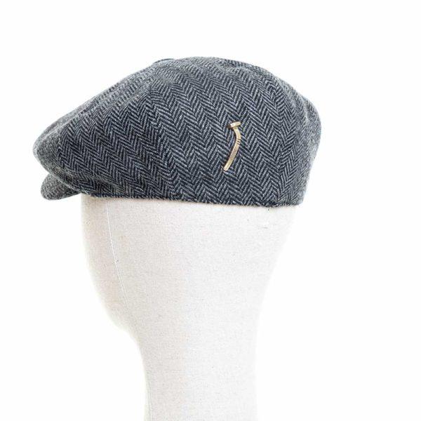 Cappello Baker Boy Hat Grigio Spinato Clamor Glamour Retro