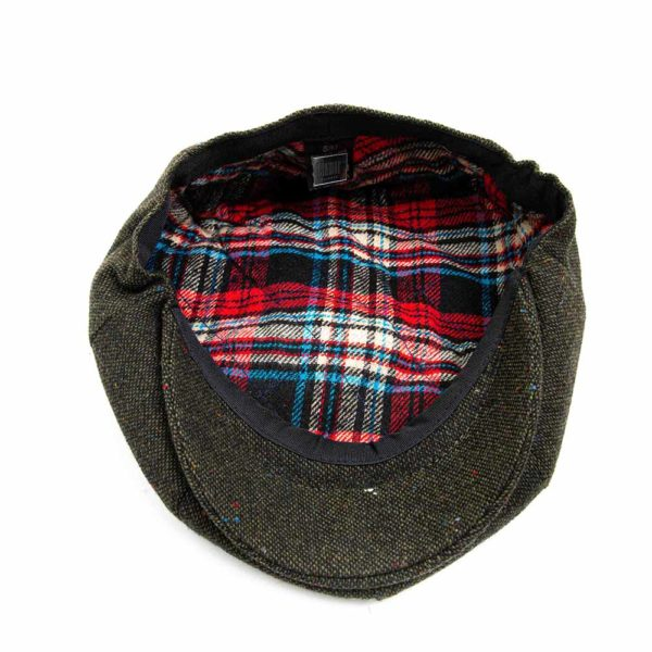 Cappello Baker Boy Hat Verde Melange Clamor Glamour Dettaglio Interno