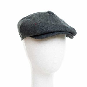 Cappello Baker Boy Hat Verde Melange Clamor Glamour Fronte