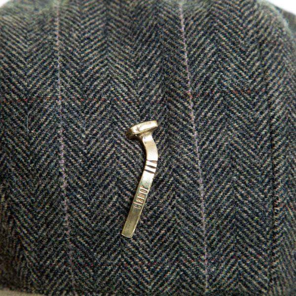 Cappello Baker Boy Hat Verde Spinato Fine Clamor Glamour Dettaglio Chiodo