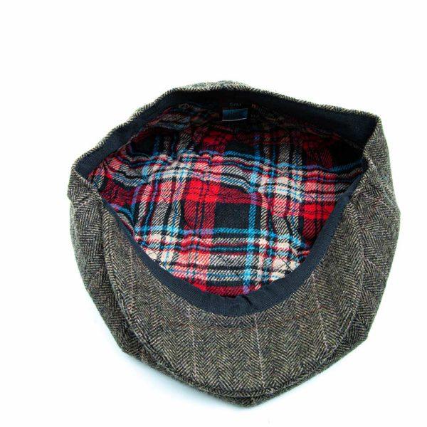 Cappello Baker Boy Hat Verde Spinato Fine Clamor Glamour Dettaglio Interno