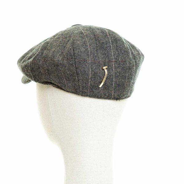 Cappello Baker Boy Hat Verde Spinato Fine Clamor Glamour Retro