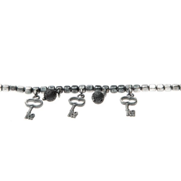Bracciale Chiave Love Charms Argento Made in Italy Clamor Glamour Linea Venezia