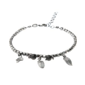 Bracciale Piuma Charms Argento Made in Italy Clamor Glamour Linea Glamour
