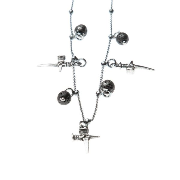 Collana Chiodo Croce Charms Argento Made in Italy Clamor Glamour Linea Clamor