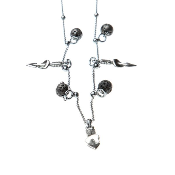 Collana Cupido Charms Argento Made in Italy Clamor Glamour Linea Glamour