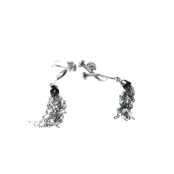 Orecchini Chiodo Incrociato Argento Made in Italy Clamor Glamour Linea Clamor