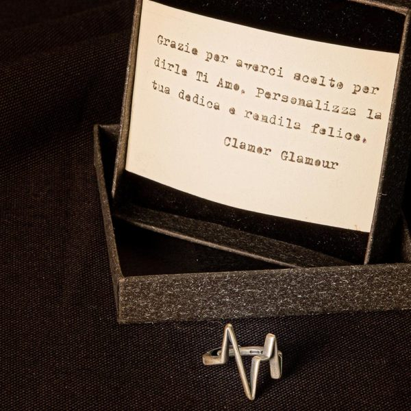 Anello Battito Argento Made In Italy Clamor Glamour Linea Venezia Foto Dedica