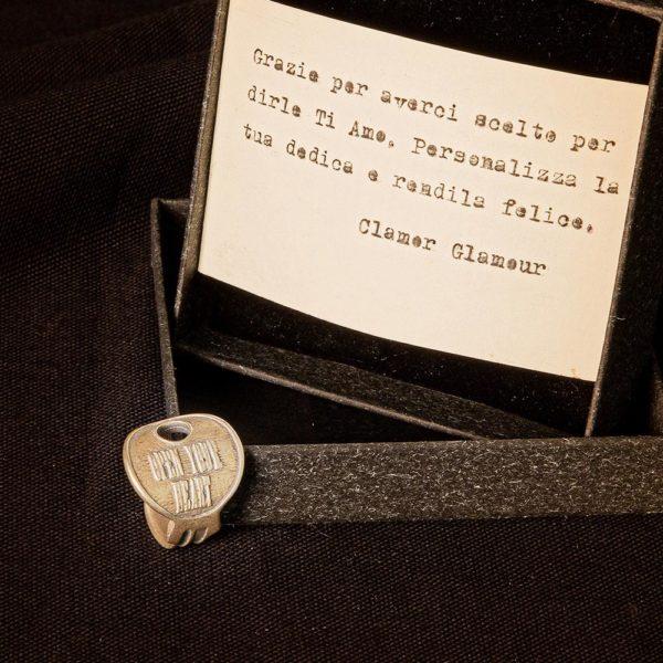 Anello Open Your Heart Argento Made In Italy Clamor Glamour Linea Venezia Foto Dedica