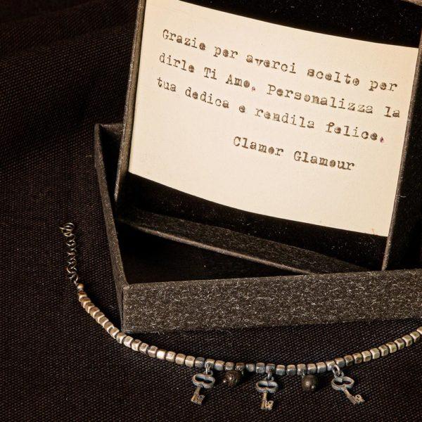 Bracciale Chiave Love Charms Argento Made In Italy Clamor Glamour Linea Venezia Foto Dedica
